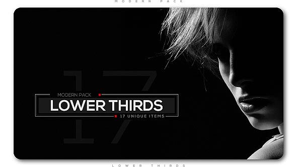 VIDEOHIVE MODERN LOWER THIRDS PACK Free Download